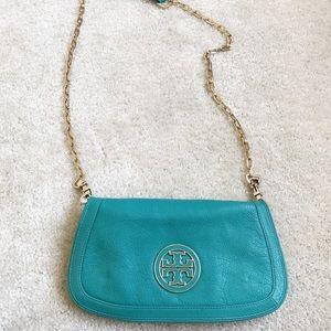 Turquoise Tory Burch crossbody bag